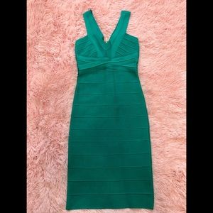 Emerald green bandage Bebe dress